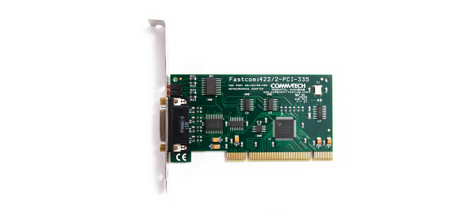 Fastcom: 422/2-PCI-335 Async RS422 & RS485 Serial Com Card